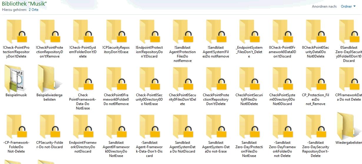 2 strange behaviors (Honeypot Files & SandBlastBac