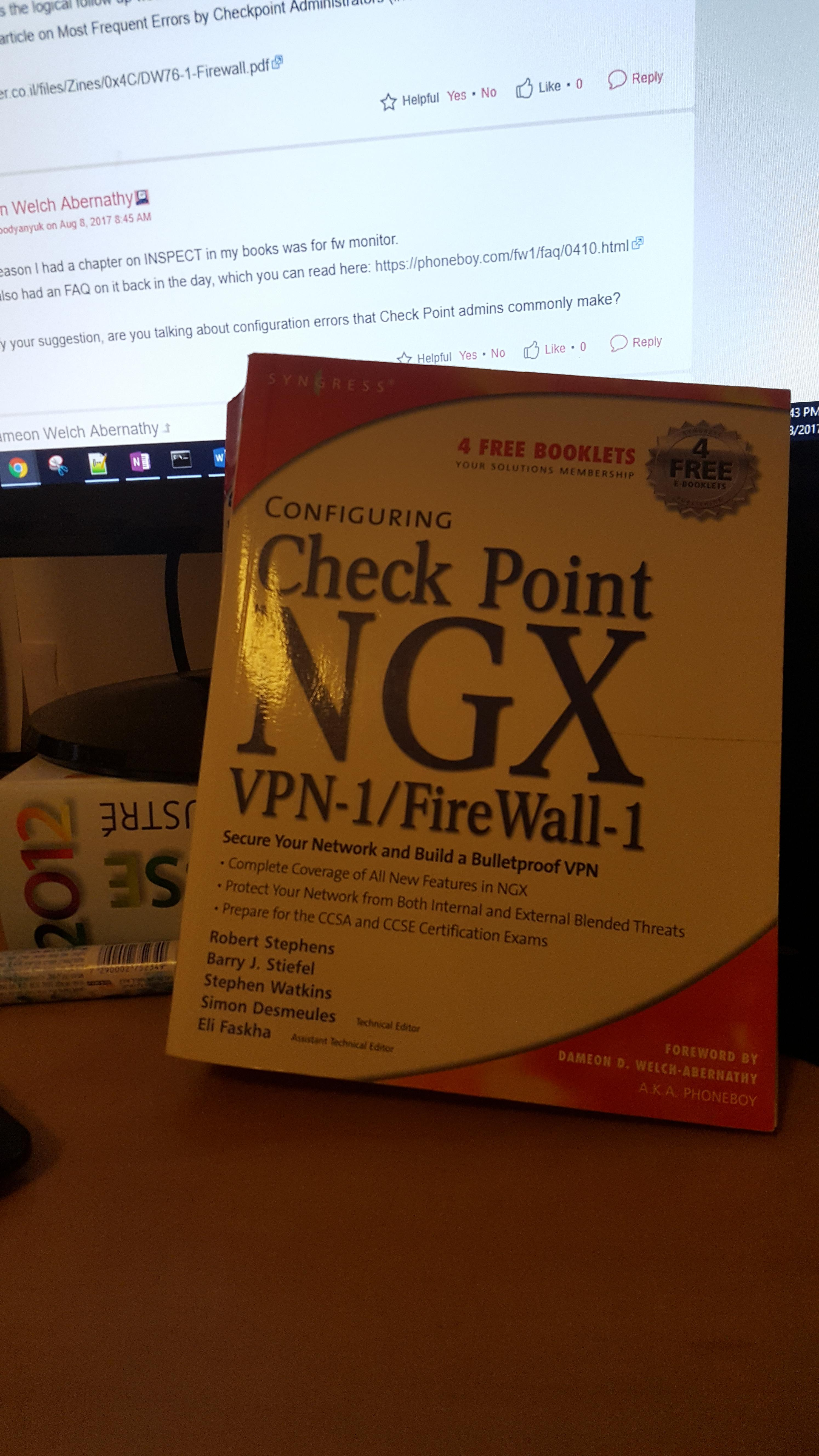 Check Point NGX book
