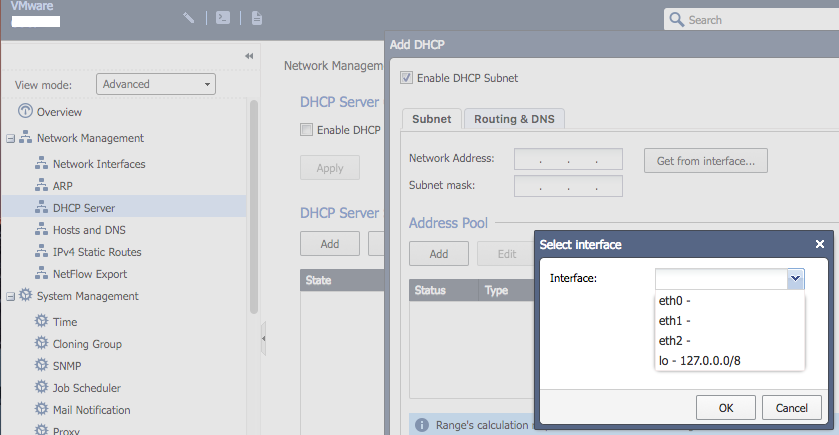 Possible to use GAIA as dhcp server and vlan on on