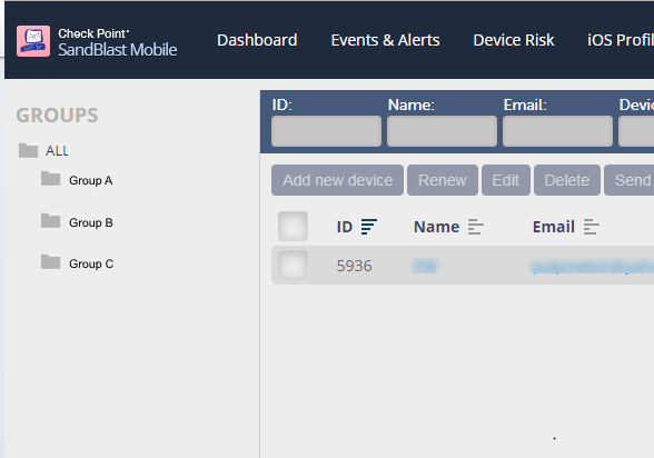 EMM device group support - Check Point CheckMates