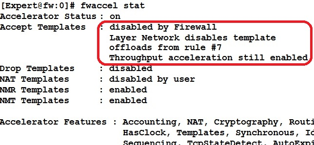 fwaccel stat disabled throughput