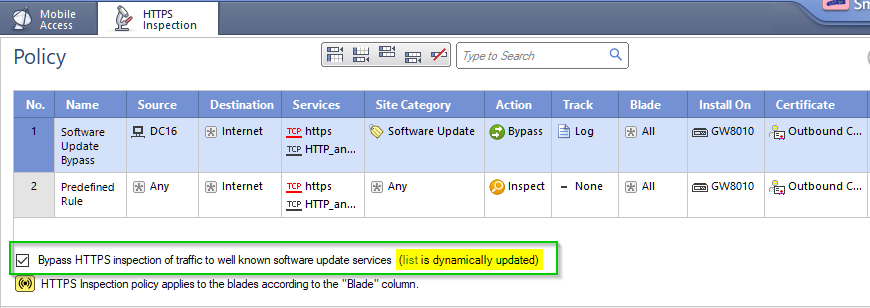 Windows Update Services on Server 2016 are being b    - Check Point