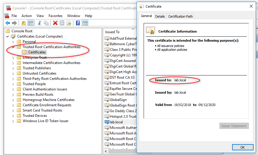 Solved: How to create a TRUSTED ROOT CA? - Check Point