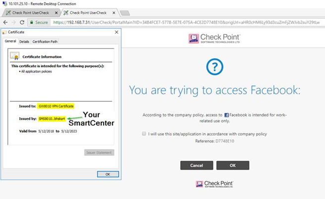 Solved: Usercheck Block Page is Insecure/Private - Check