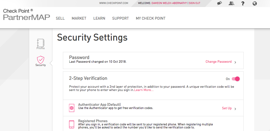 Remove Two Factor Authentication from User Center