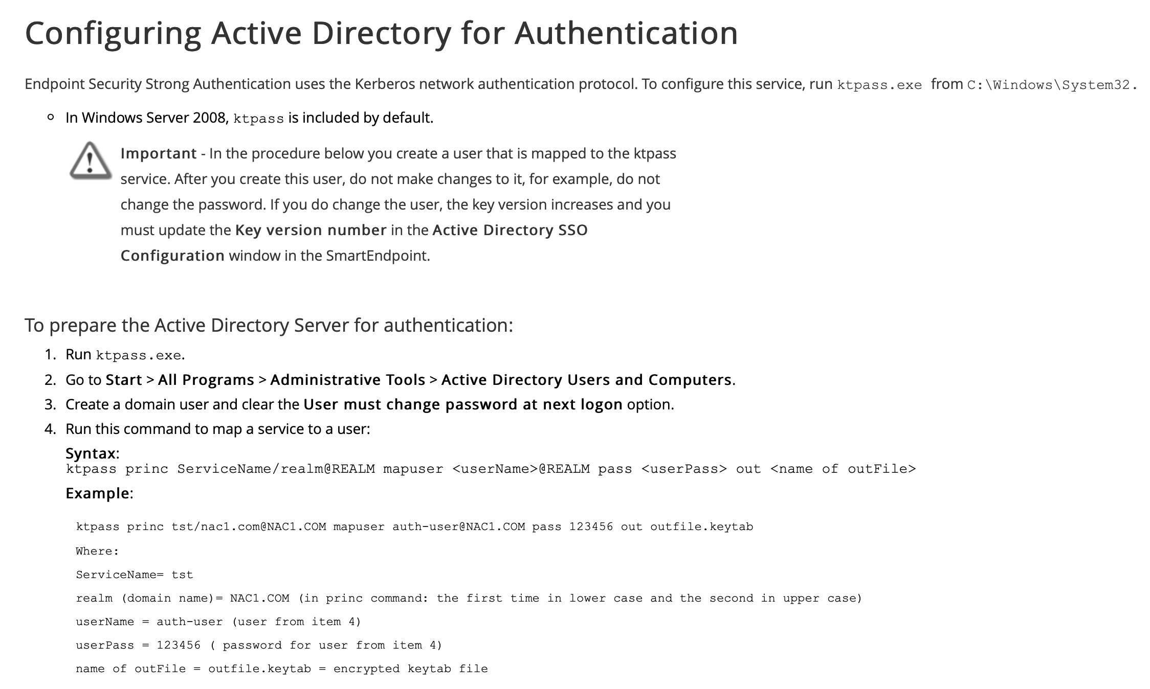 Endpoint AD Authentication - Server 2016+ - Check Point