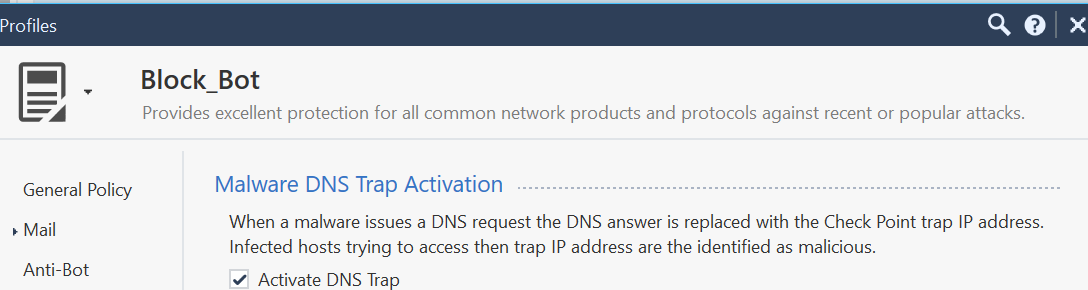 DNS-trap Profile