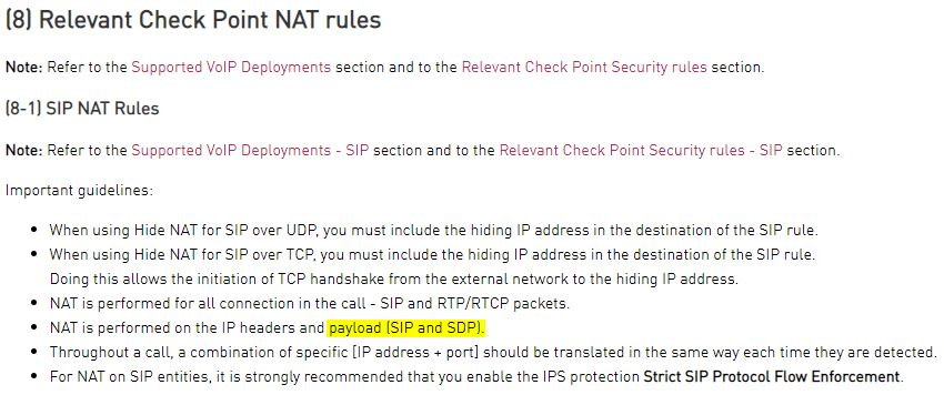 ATRG - VoIP - NAT on SIP and SDP payloads