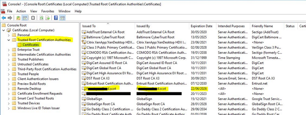 Google Pate Locally Significant Certificates - Renault