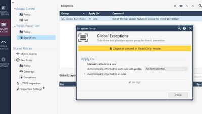 Global Exceptions
