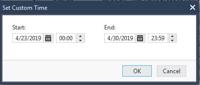 SmartView time frame filter