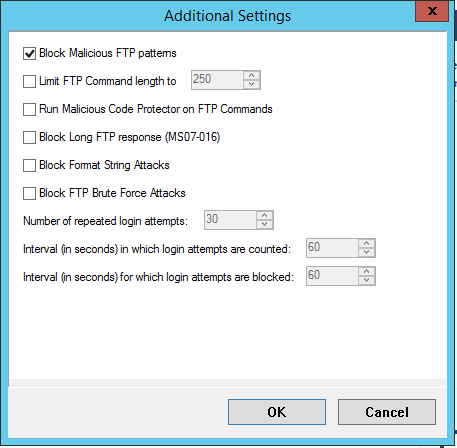 Customize option-FTP Patterns