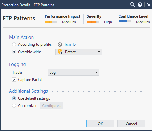 Protection Details-FTP Patterns